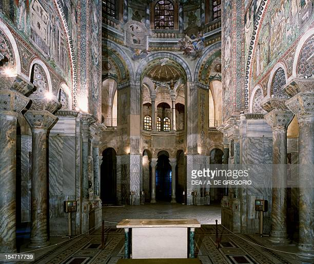 Glimpse of the interior Basilica of San Vitale Ravenna EmiliaRomagna Italy 6th century