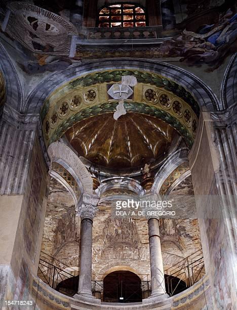 Glimpse of the interior Basilica of San Vitale Ravenna EmiliaRomagna Italy 6th century