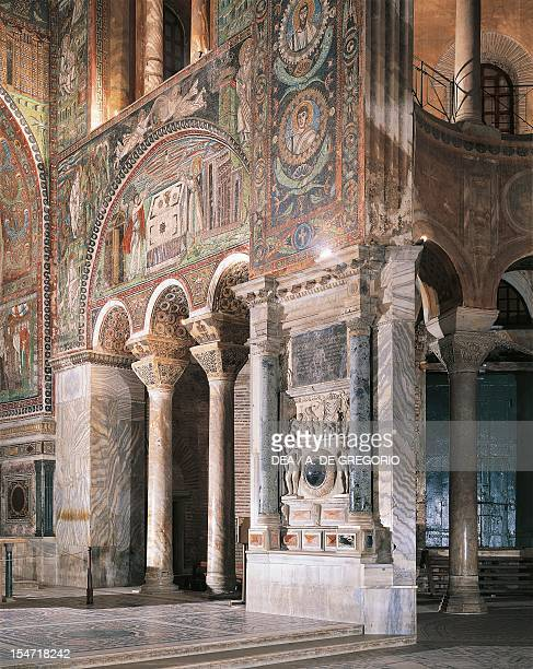 Glimpse of the interior of the Basilica of San Vitale Ravenna EmiliaRomagna Italy 6th century
