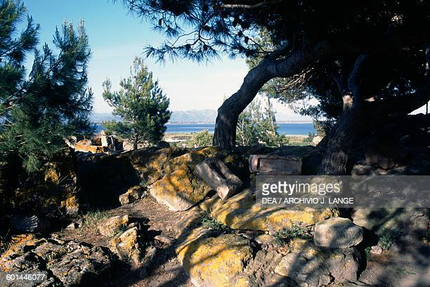 Glimpse of the Tophet of the ancient city of Sulci Sardinia Italy Punic civilisation