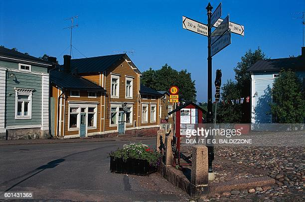 Glimpse of the town of Porvoo Finland