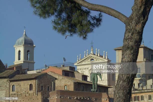 Glimpse of Trajan's forum Rome Lazio Italy 2nd century AD
