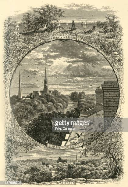 Glimpses of Greenwich Stamford and Norwalk' 1874 'Norwalk Harbor Glimpse in Greenwich Stamford' Connecticut USA 'About twenty miles from our great...