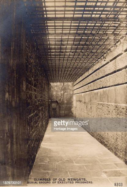 Glimpses of Old Newgate - Burial Ground of Executed Prisoners, c1900. Newgate Prison, dating back to the 12th century, was originally located at the...