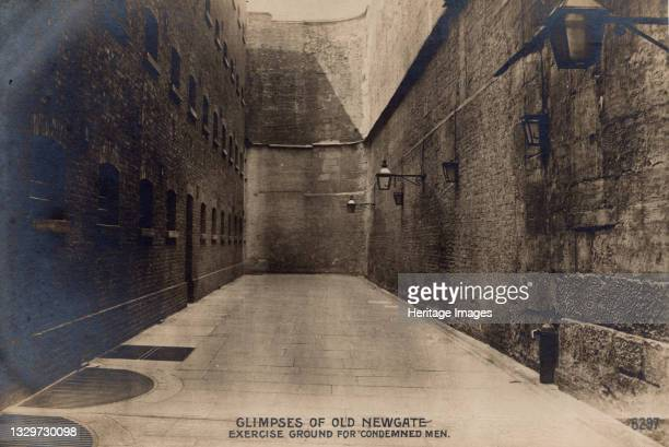 Glimpses of Old Newgate - Exercise Ground for Condemned Men, c1900. Newgate Prison, dating back to the 12th century, was originally located at the...