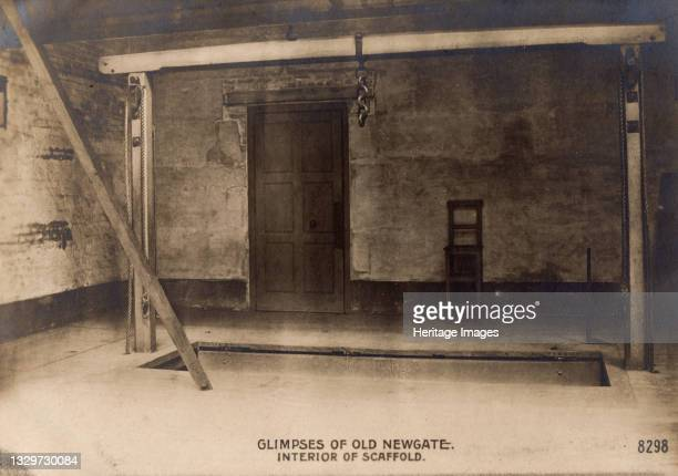 Glimpses of Old Newgate - Interior of Scaffold, c1900. Newgate Prison, dating back to the 12th century, was originally located at the site of...