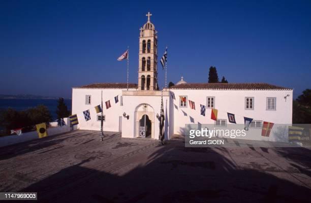 église Agios Nikolaos sur l'île de Spetses, en septembre 1989, Grèce.