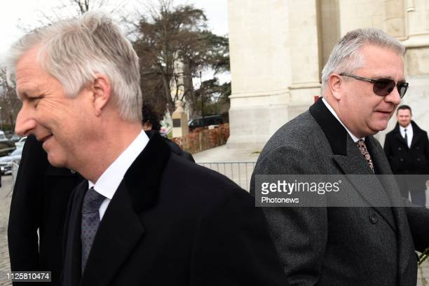 cérémonie en mémoire des membres défunts de la Famille Royale en présence du Roi Philippede la Reine Mathildedu Roi Albert II de la Reine Paola du...