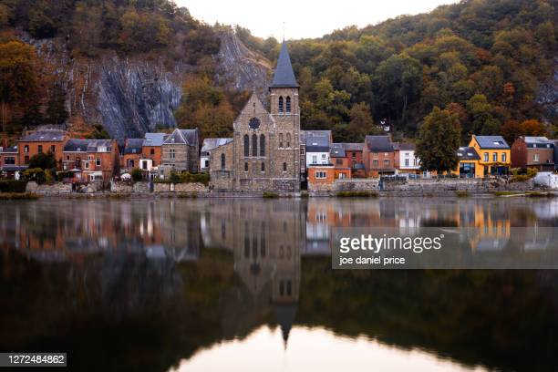 église saint paul des rivages, dinant, belgium - belgian culture stock pictures, royalty-free photos & images