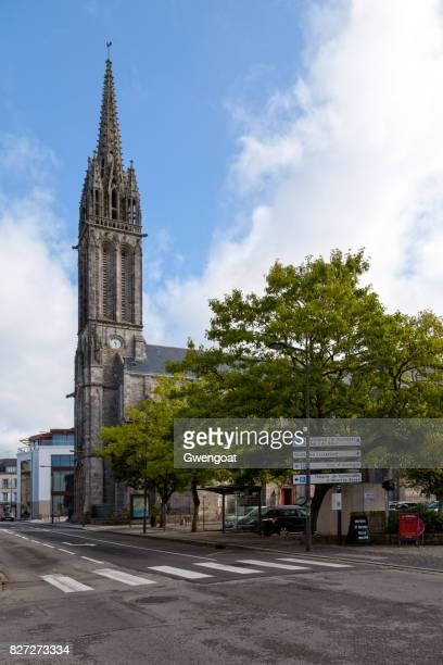 église saint-mathieu in quimper - gwengoat stock pictures, royalty-free photos & images