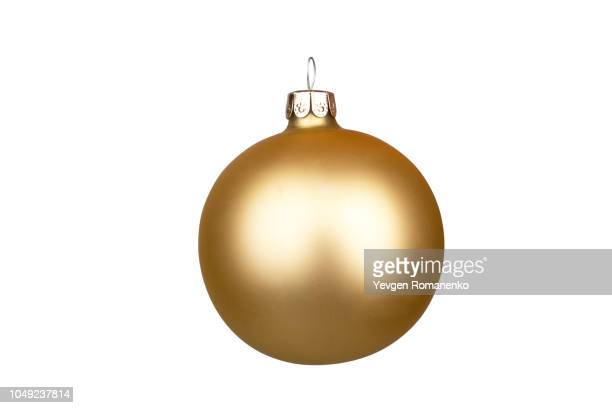 glitter christmas ball isolated on white background - sports ball stock pictures, royalty-free photos & images