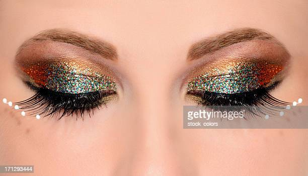 brilho maquiagem - sombra maquiagem de olho - fotografias e filmes do acervo