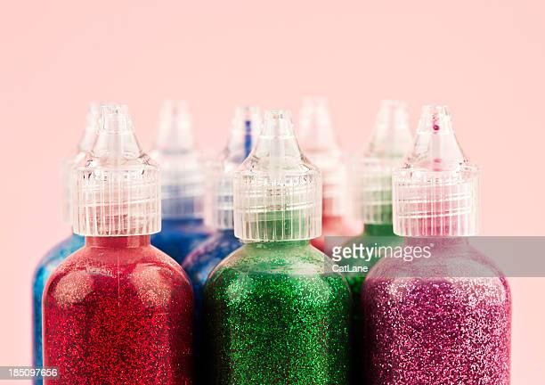 Glitter Farbe Flaschen