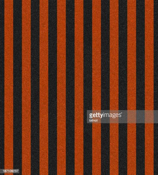 glitter with orange and black stripes