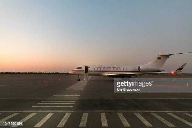 Global 5000 aircraft of the Air Force on the airfield in Beira on August 26 2018 in Beira Mozambique