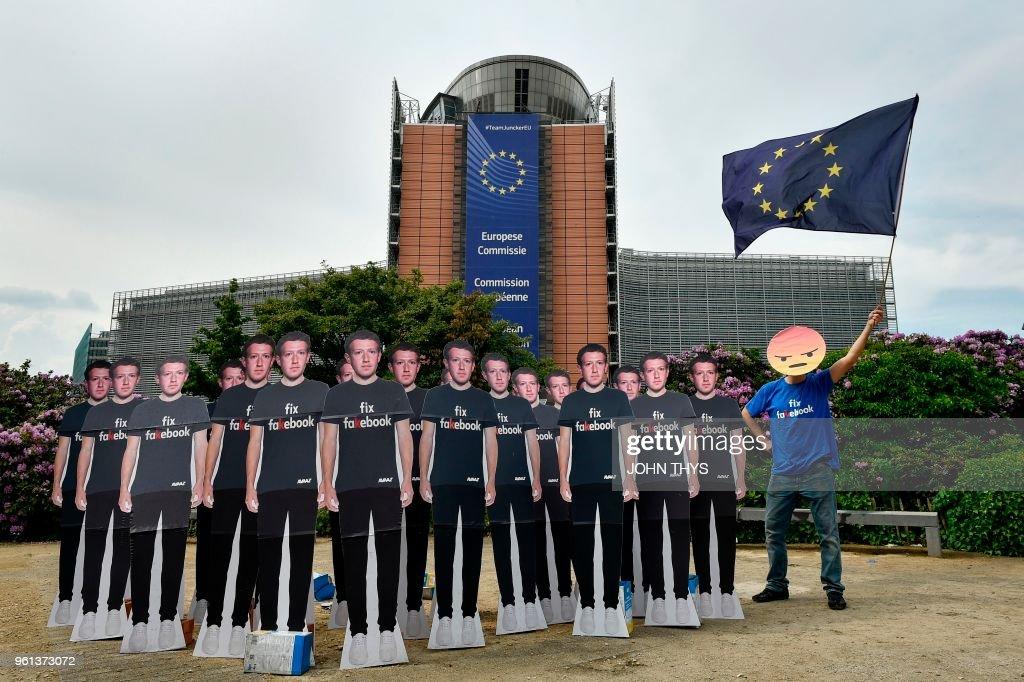 BELGIUM-EU-FACEBOOK-DATA : News Photo