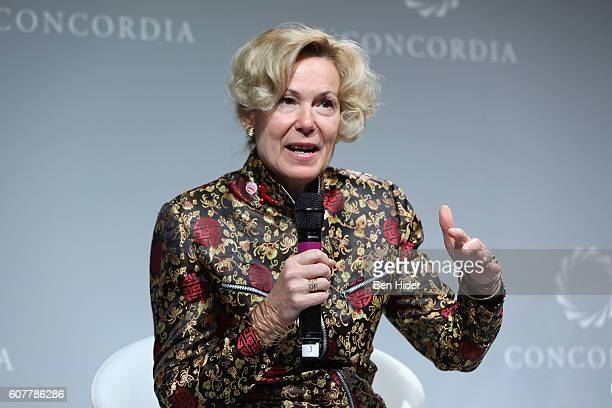S Global AIDS Coordinator Amb Deborah L Birx MD attends 2016 Concordia Summit Day 1 at Grand Hyatt New York on September 19 2016 in New York City