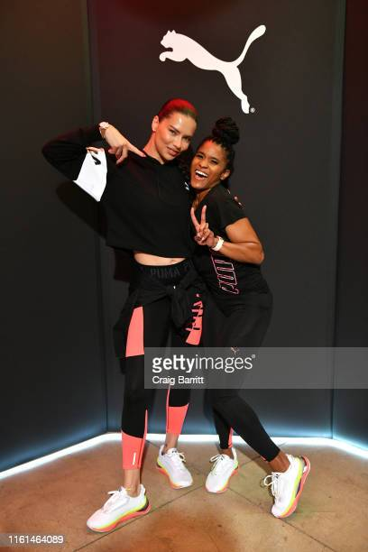 Global Ambassador Adriana Lima and Deja Riley attend as PUMA And Refinery29 Host The Launch Of The New PUMA LQD CELL Shatter Shoe at Refinery29 on...