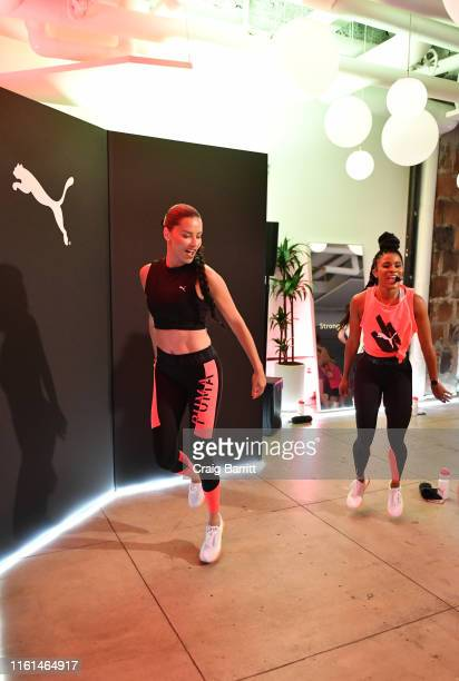 Global Ambassador Adriana Lima and Deja Riley lead a highintensity workout class as PUMA And Refinery29 Host The Launch Of The New PUMA LQD CELL...