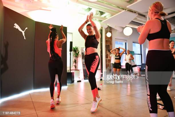 Global Ambassador Adriana Lima and Deja Riley lead a high-intensity workout class as PUMA And Refinery29 Host The Launch Of The New PUMA LQD CELL...