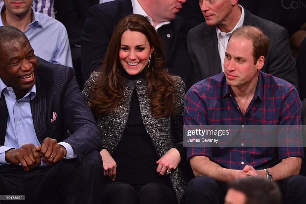 The Duke And Duchess Of Cambridge Attend Cleveland Cavaliers v. Brooklyn Nets : News Photo
