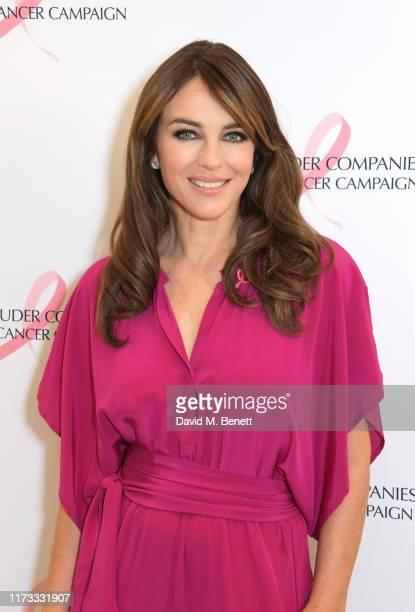 Global ambassador Elizabeth Hurley attends The Estee Lauder Companies UK Ireland Breast Cancer Campaign on October 3 2019 in London England