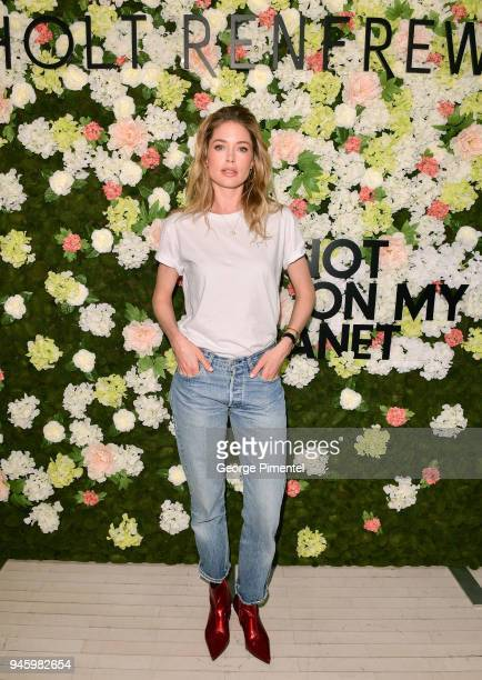 Global Ambassador of Knot On My Planet Doutzen Kroes attends a personal appearance at Holt Renfrew flagship store on April 13 2018 in Toronto Canada