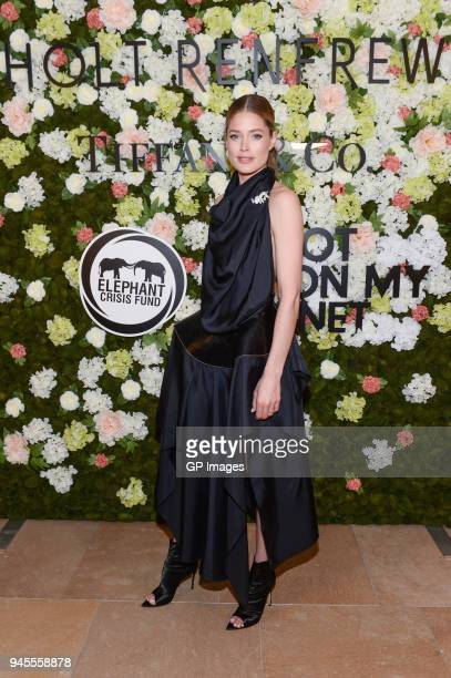 Global Ambassador of Knot On My Planet Doutzen Kroes attends the Holt Renfrew Knot On My Planet Gala held at the AGO on April 12 2018 in Toronto...