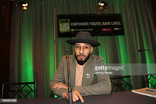 Global Ambassador Swizz Beatz attends HHC's 'Guns Down Life Up' reception at Pier 60 on November 21 in New York City