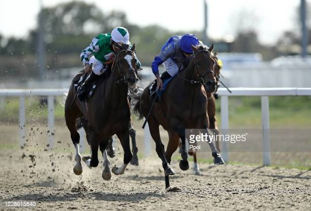 Global Art ridden by Ryan Moore coming home to win the tote.co.uk Free Streaming Every UK Race Handicap at Chelmsford City Racecourse on September...