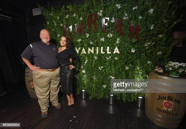 Global brand partner Mila Kunis joins Fred Noe Jim Beam® seventh generation master distiller at an exclusive Jim Beam® Vanilla launch party...