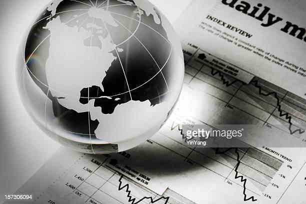 Global affaires et de la Finance et de l'investissement prévision récession Page de journal