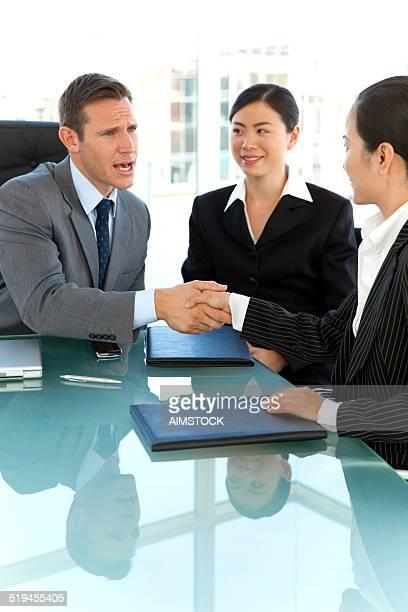 Global Business Handshake