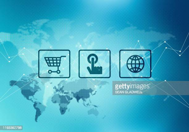 global business illustration - global communications stock pictures, royalty-free photos & images