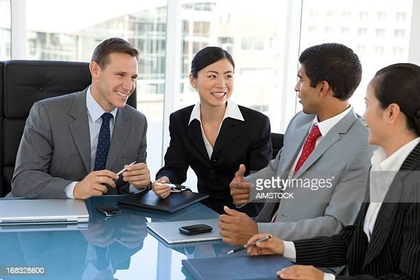 Global réunion d'affaires