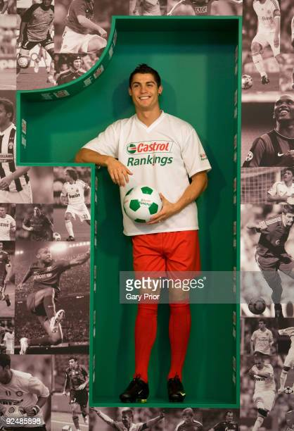 Global Castrol Ambassador Cristiano Ronaldo poses for a picture during a photo call to promote the launch of the Castrol Rankings on October 29, 2009...