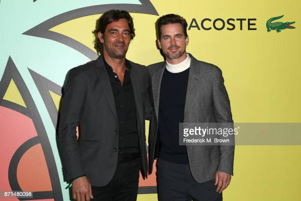 Global CEO Thierry Guibert and Matt Bomer attend the celebration of the reopening of the LACOSTE Rodeo Drive Boutique at Sheats Goldstein Residence...