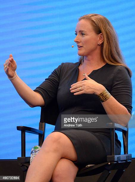 Global Chair of Consumer Practice at Edelman Michelle Hutton speaks onstage at the Advertising Week Trust Forum Presented by OpenX panel during...