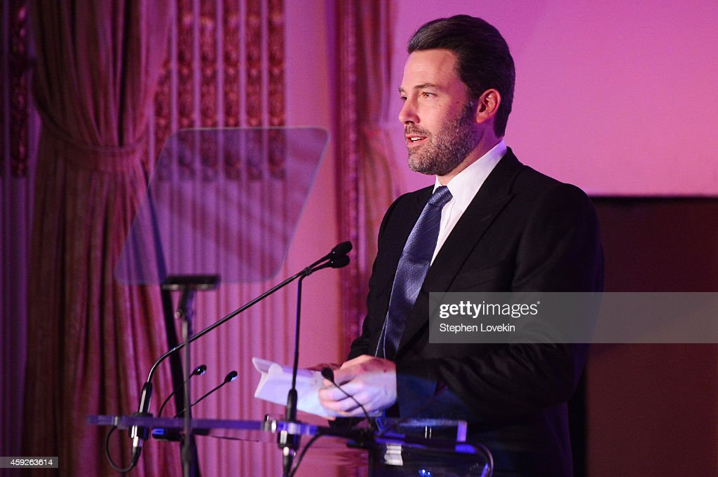 Global Child Advocate Award honoree Ben Affleck speaks onstage at the 2nd Annual Save The Children Illumination Gala at the Plaza on November 19, 2014 in New York City.