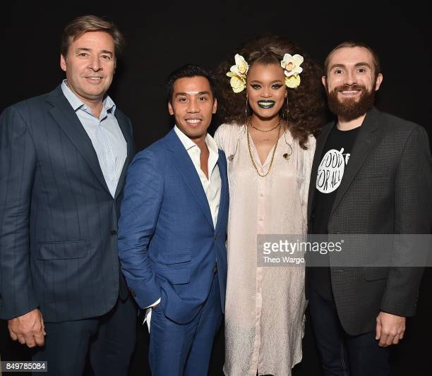 Global Citizen Chairman's Council Member Chris Stadler Cadillac Associate Director Brand Partnerships and Experiences Nathan Tan singer Andra Day and...