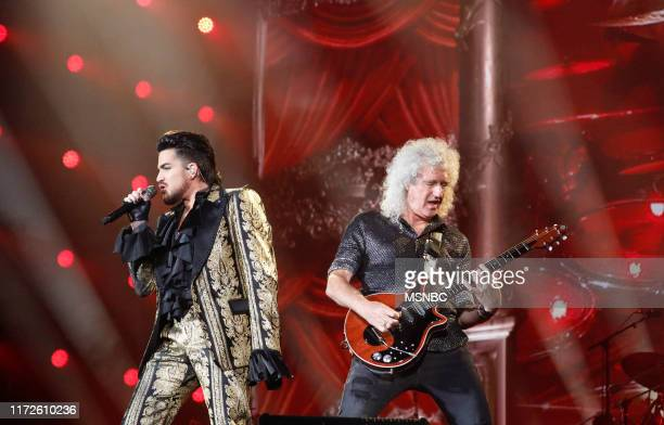 CITIZEN Global Citizen Festival in Central Park in New York City on Saturday September 28 2019 Pictured Adam Lambert performs with Brian May of Queen