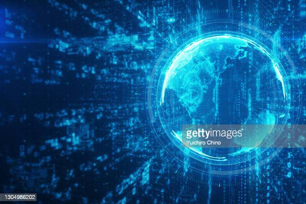 global communication and network data - cryptocurrency stock pictures, royalty-free photos & images