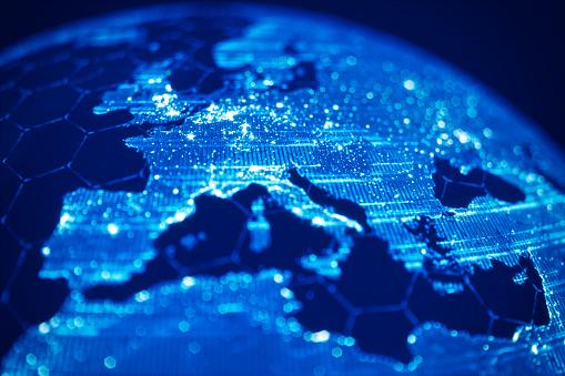 Global Communication And Technology (World Map Credits To NASA) 1044188400