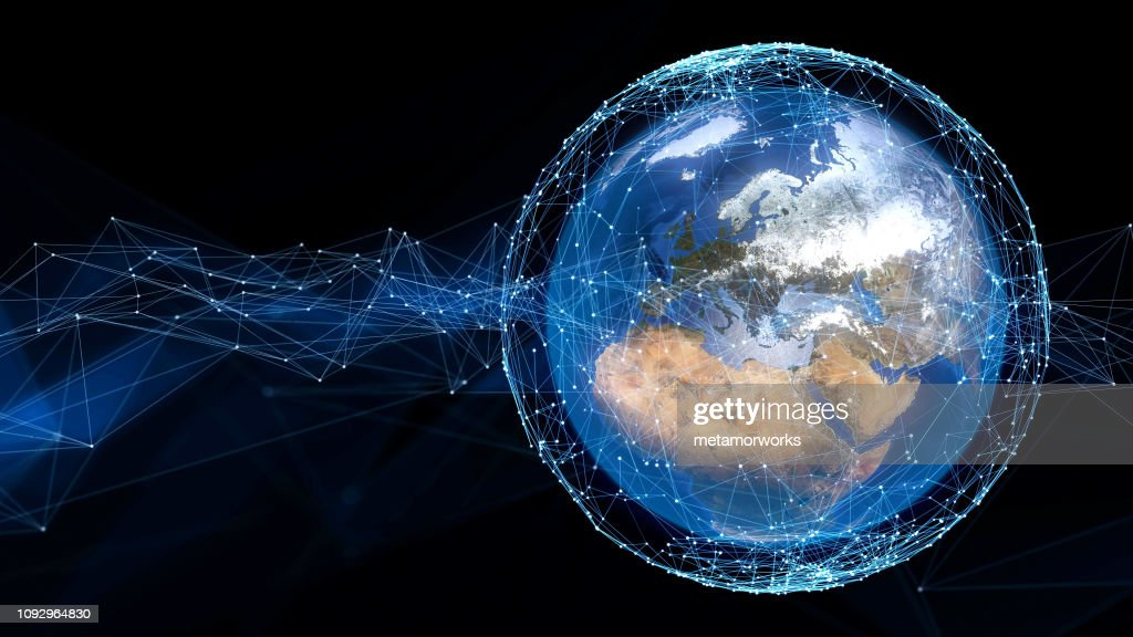 Global communication network concept. : Stock Photo