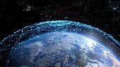 Global communication network concept.