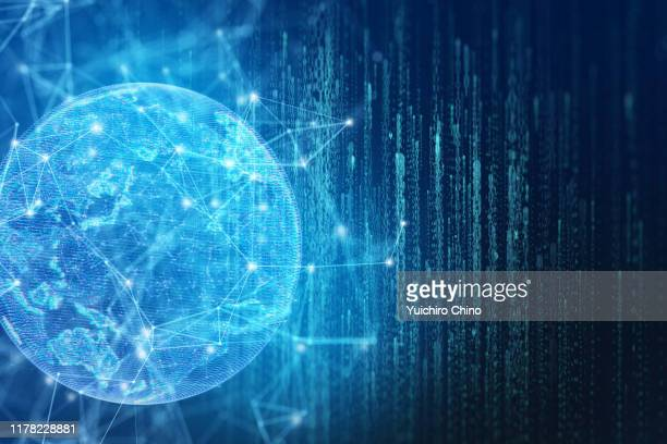 global communication network - big data world stock pictures, royalty-free photos & images