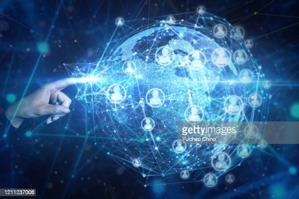 global communications and network - gafam stock-fotos und bilder