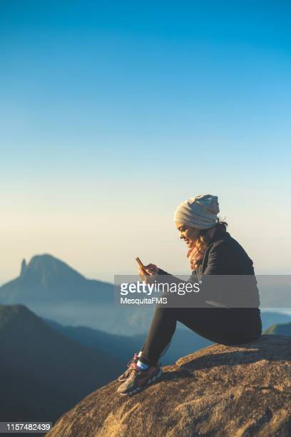 global communications (pedra do castelinho) in the serra dos organs national park, rio de janeiro, brazil - color climax stock pictures, royalty-free photos & images