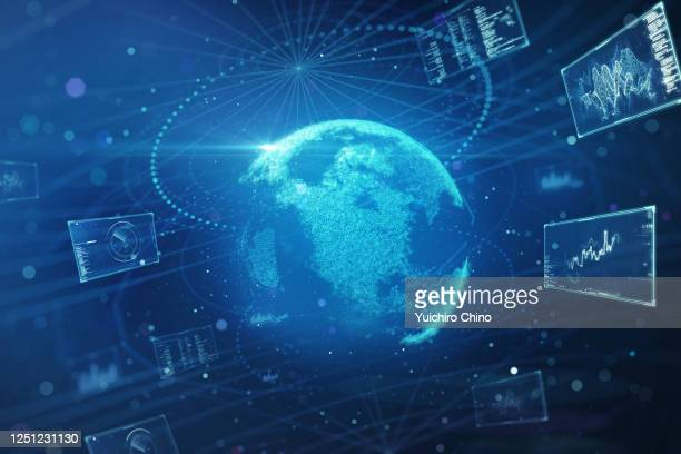global data center - big data globe stock pictures, royalty-free photos & images