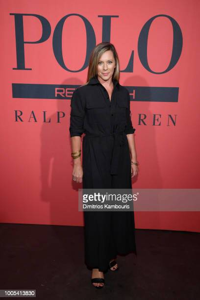Global Deputy General Manager Ralph Lauren Fragrances at L'Oréal Ginny Wright attends the Polo Red Rush Launch Party with Ansel Elgort at Classic Car...